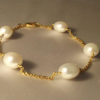 Pearl Bracelet in Gold-plated Sterling Silve